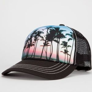 Billabong Sunset Palm Tree Trucker Snapback Hat